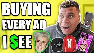 Buying Every JAKE PAUL Advertisement I see! (NOT CLICKBAIT)