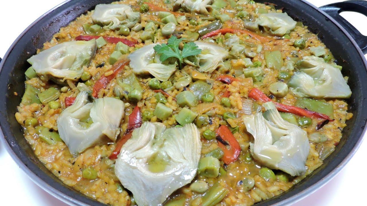 Paella de verduras youtube for Como hacer paella de verduras