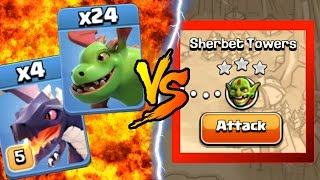 Clash Of Clans | BABY DRAGONS & DRAGONS vs SHERBET TOWERS! INSANE GAME PLAY! | NEW MAY 2016 UPDATE!