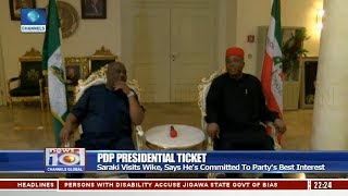 Saraki Visits Wike, Says He's Committed To Party's Best Interest Pt.2 21/09/18 |News@10|