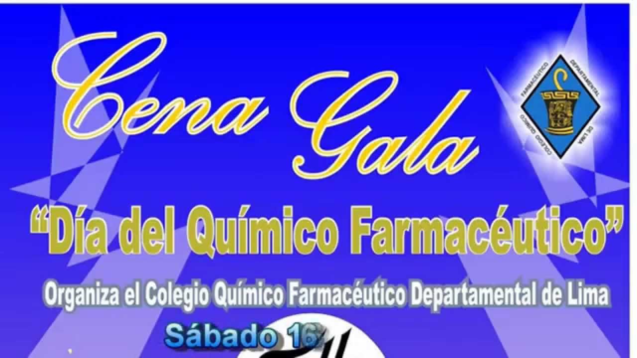 Invitación Cena De Gala Día Del Químico Farmacéutico