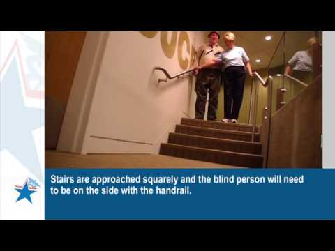 Training for Volunteers in Disaster Shelters: Assisting a Blind Person (Captioned)