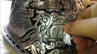 Как сделать рисунок на металле / Травление металла(В этом ролике представлен метод травления металла в домашних условиях, под действием электролита и электри..., 2016-12-13T11:14:15.000Z)