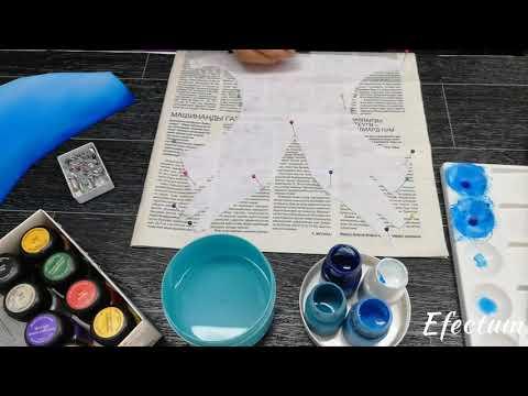 Шьём гимнастический купальник - покраска ткани (бифлекс)
