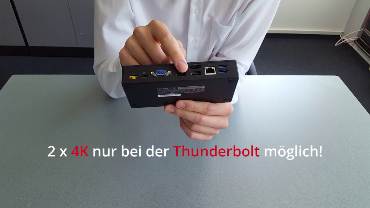 Die Lenovo USB-C / Thunderbolt Dockingstation