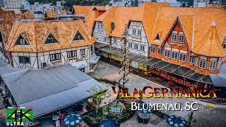 【4K】Vila Germanica from Above - BRAZIL 2020 | Blum...