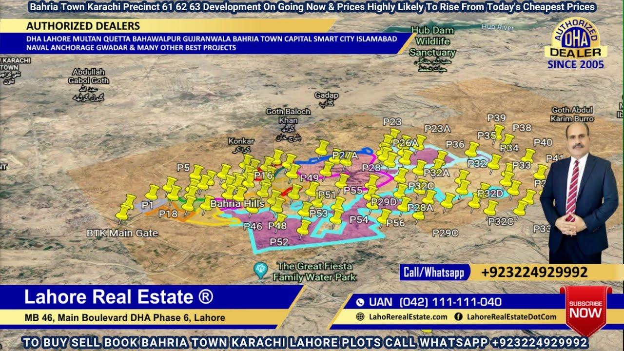 Entire Bahria Town Karachi Latest Development Update Including Bahria Greens Plus Precinct 61 62 63