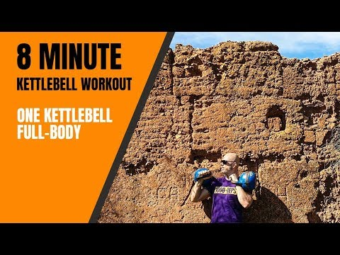 8 minute kettlebell workout full length workout out with me��