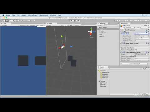 Unity 5: UI - 1.5 Canvas: World space
