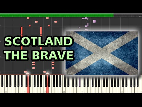 Scotland the Brave - Harry Lauder | Synthesia Piano Tutorial