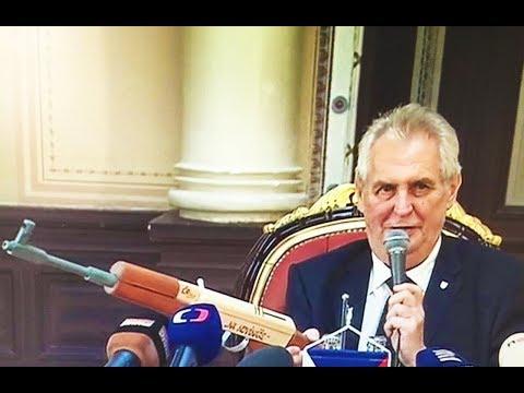Czech President Threatens Journalists With AK-47