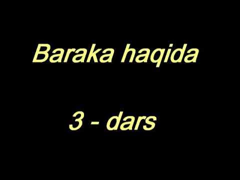 Shayx Sodiq Samarqandiy - Baraka haqida (3- dars)