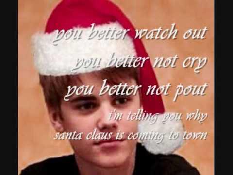 Justin Bieber Santa Claus Is Coming To Town Lyrics