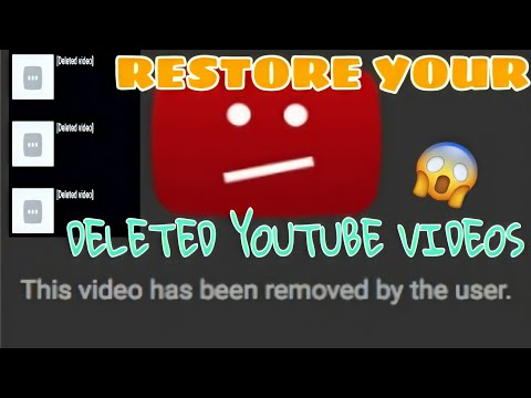 How To Recover  Deleted Youtube  Videos Without YouTube Partner Program On Phones  2020