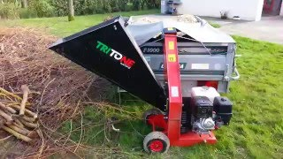 Broyeur branche végétaux tritone maxi moteur honda gx390 13ch