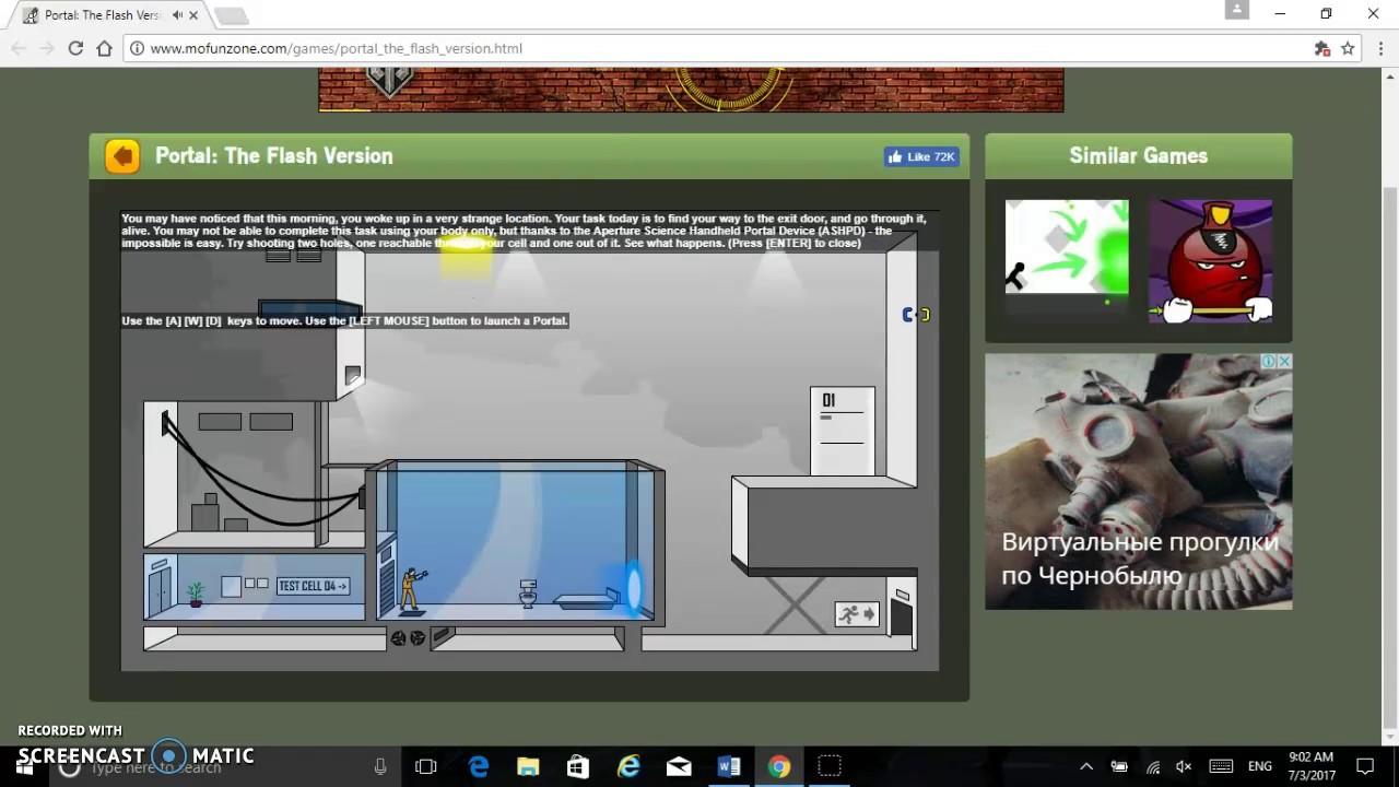 Portal The Flash Version Gameplay