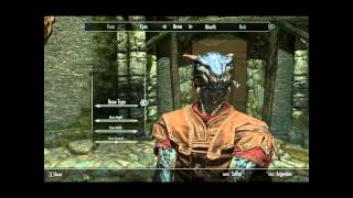 Skyrim Guide - Make your (MALE) Argonian look like a dragon!