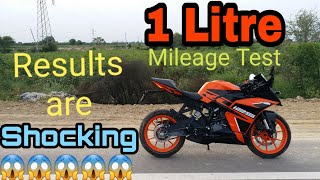KTM RC 125  | 1 Litre City Mileage Test | Unexpected Results | Aniket Sharma