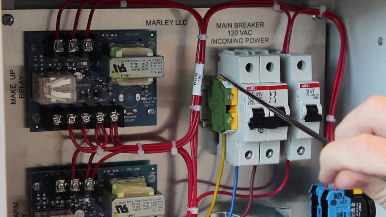 Control Panel Wiring On Diagram Residential Electrical Diagrams Marley Llc Water Level Part 4 The