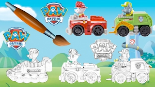 PAW Patrol Truck Coloring Book - Pages Video For Kids Episode 30