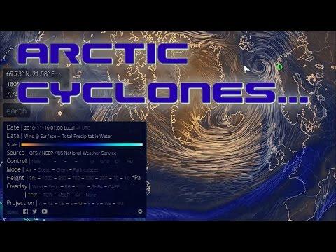 Arctic Cyclones Shred Sea Ice (Nov 2016)