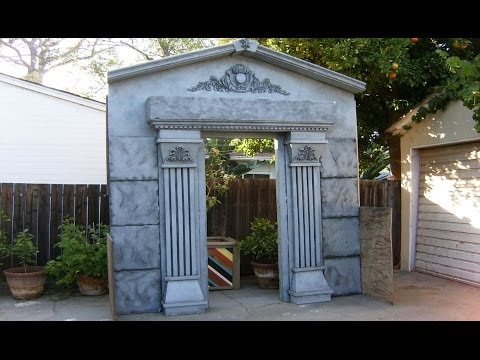 Halloween Facade | Mausoleum Crypt Entrance | Haunted House Prop | Halloween Decorations