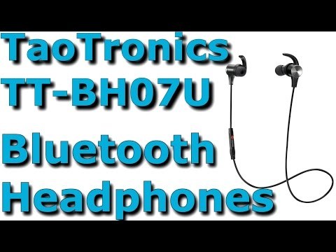 TaoTronics TT-BH07U 4.1 Bluetooth Headphones/Magnetic Earbuds Unbox Thorough Review/Setup
