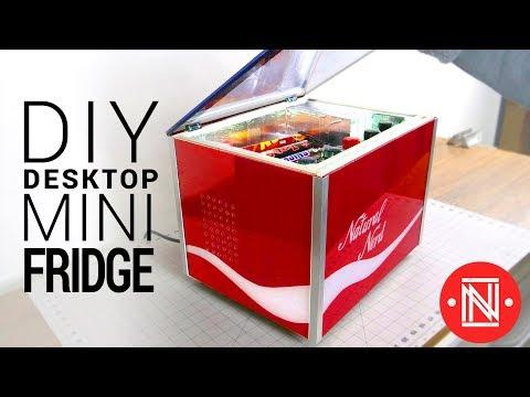 Making a Desktop Mini Fridge || DIY