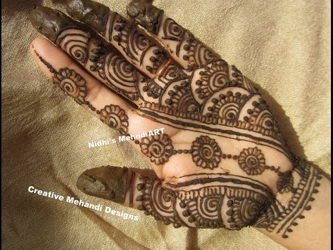 Mehndi Designs For Palm : Traditional henna mehndi design for palm beginners youtube