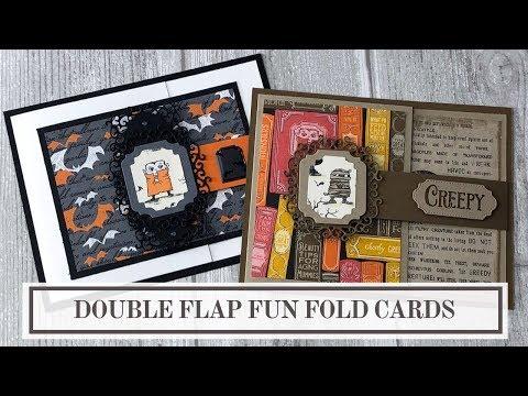 Double Flap Fun Fold Card (2 Easy Halloween Card Ideas)