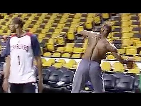 LeBron James vs. Dwight Howard Full Court Shots