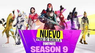 NEW BATTLE PASS **SEASON 9** Fortnite, New Zones, Skin LEVEL 100 and more!