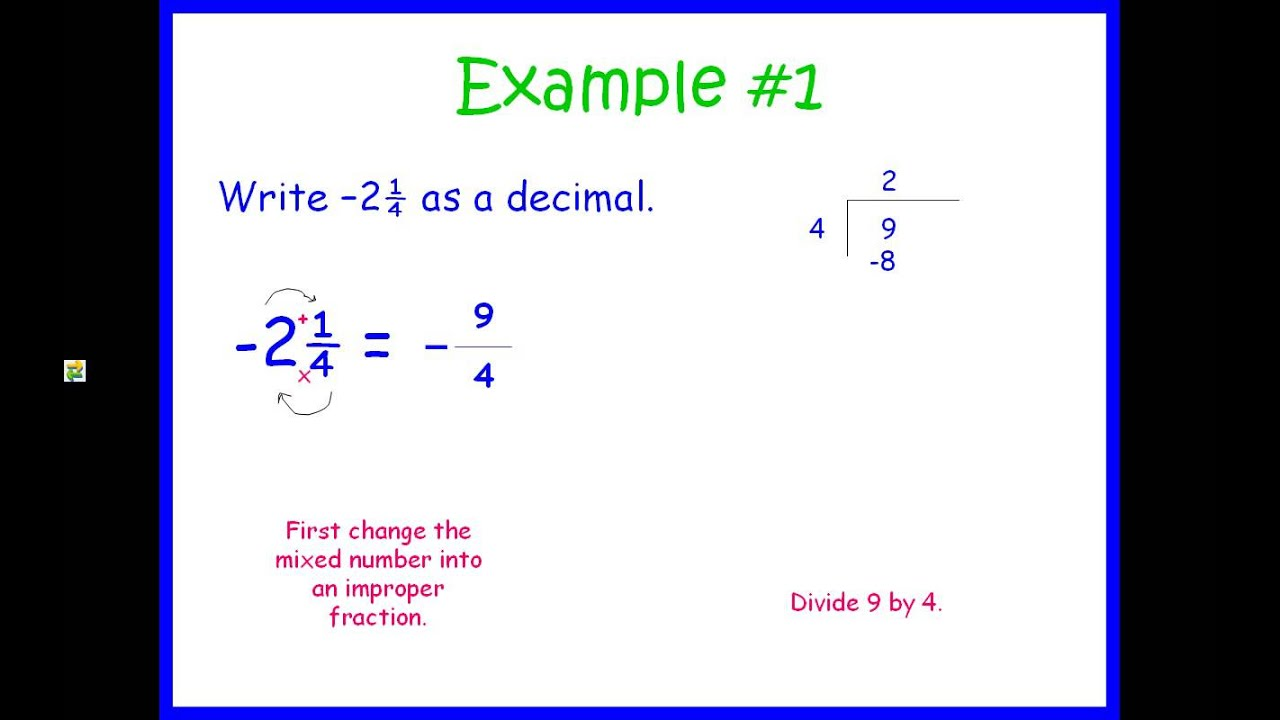 Worksheet Turning A Fraction Into A Decimal rational numbers converting fractions and decimals youtube decimals