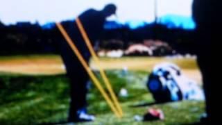 Matt Christian Explaining The Golf FundamentalsTo Novice Junior College Golfers