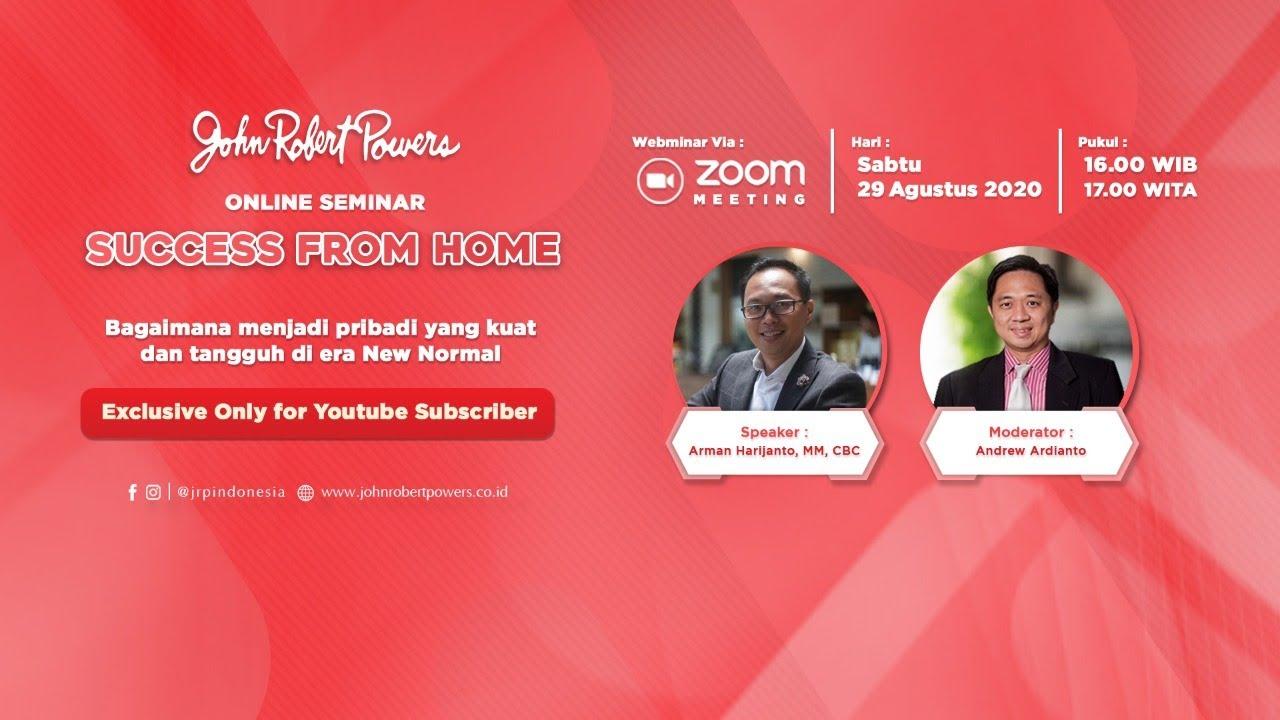 Web Seminar Success From Home With John Robert Powers Youtube