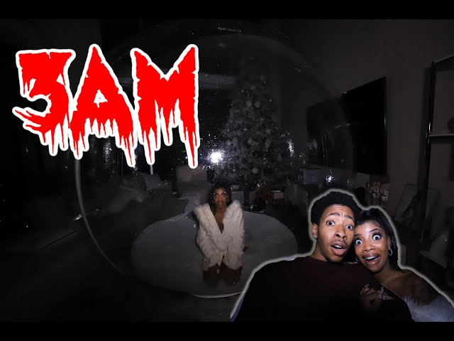 DO NOT STAY IN A GIANT HUMAN  SIZE BUBBLE AT NIGHT!!! 3AM CHALLENGE