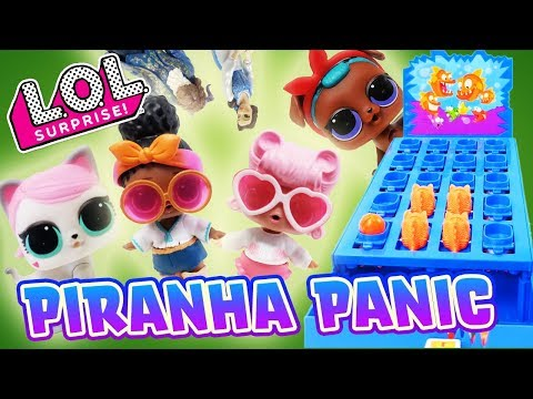 LOL Pets VS LOL Dolls Piranha Panic and Spin the Wheel with Beauty and the Beast!