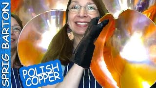 Polish Copper With Vinegar & Salt: How To Clean Copper & Brass:pots Pans Sprig Barton: Rubber Gloves
