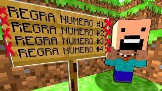 QUEBRANDO TODAS AS REGRAS DO MINECRAFT!