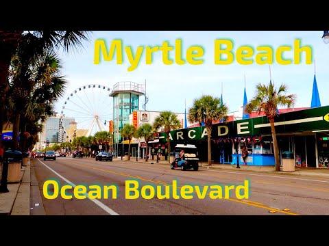 Myrtle Beach Ocean Blvd Summer Walking Tour   Attractions