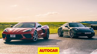 New Corvette Stingray C8 v Porsche 911 review | USA's hottest v Europe's best | Autocar