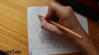 """Граффити - Урок - Рисуем Слово """"TVANS"""""""