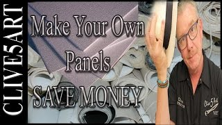Cheap Canvas Panel | make your own | Acrylic painting for beginners