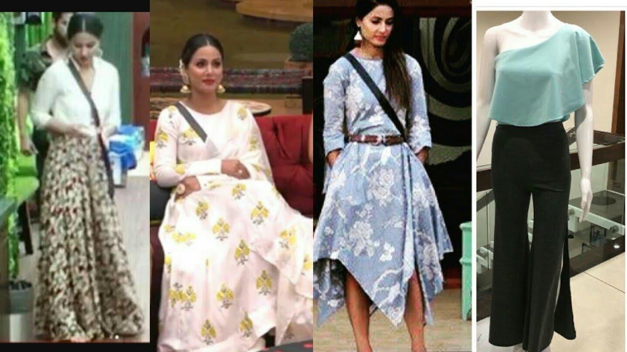 Hina Khan S All Designer Dress In Bigg Boss 11 Youtube
