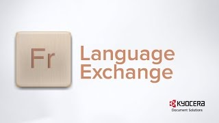 Language Exchange - Business Application developed by KYOCERA Document Solutions America