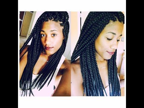How to : Seal The Ends of Your Box Braids!! BRAIDING HAIR REVIEW : Beauty Tip