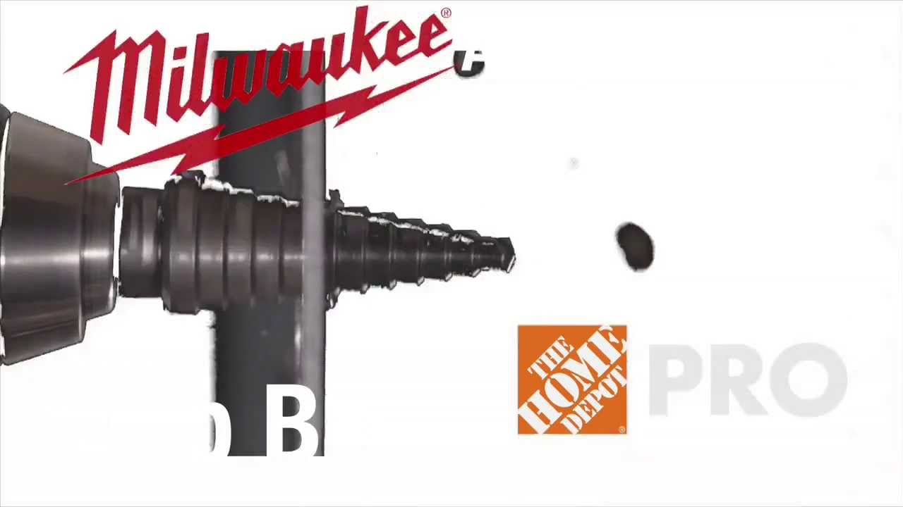 Milwaukee Step Drill Bits - The Home Depot - YouTube