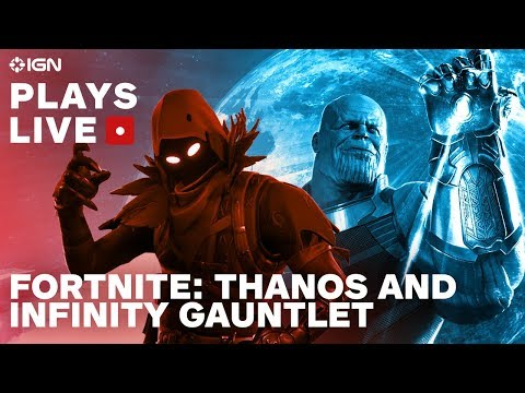 Fortnite Finding Infinity Gauntlets And Thanos Ign Plays Live