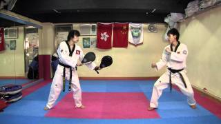 【Taekwondo】Combo Kicks, Turning Kicks, Single Kicks(please check out the