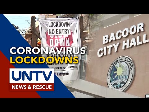 Some parts of Bacoor City and Davao City, imposed with lockdowns